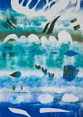 Asperations by Night, 12 x 24, monotype