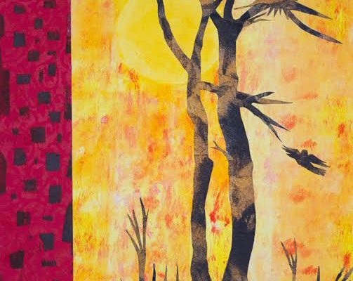 Paper Dawn, 11x14, Monotype
