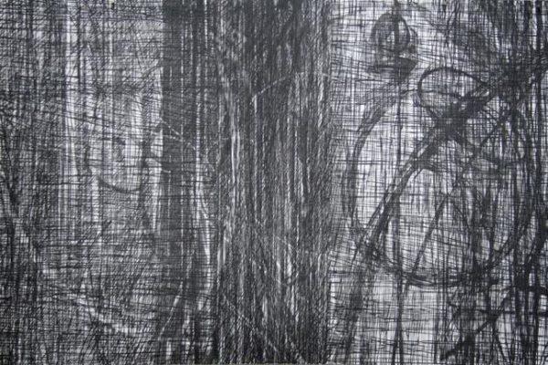 Untitled (Rambuctious Intellect) Woodcut Monoprint