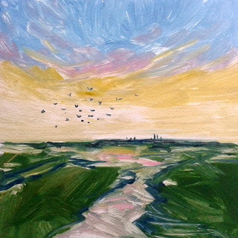 Lymington-Sea-Wall-sunset