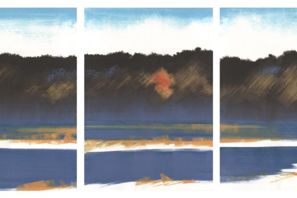 Winter, Route 1, 3 sheets of paper