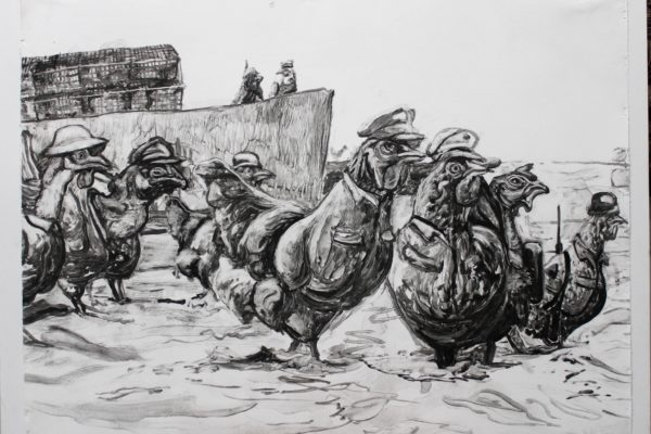 storming the beach